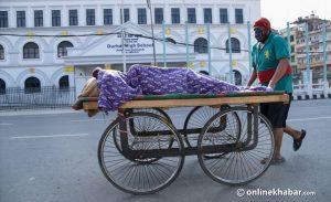 Thelagada serves as ambulance for this man in locked down Kathmandu
