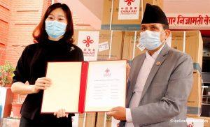 China hands over 40,000 coronavirus test kits to Nepal