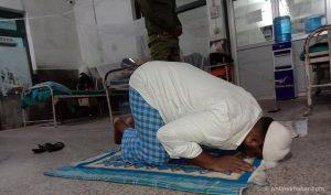 Birgunj Covid-19 patients celebrate Eid at hospital