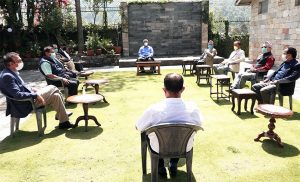 Parties busy in internal meetings after Oli's House dissolution move