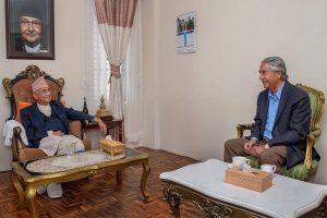 Deuba advises Oli to devise 'special' Covid-19 response strategy