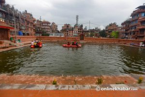 This Bhaktapur pond was dried for king's visit 62 years ago. Today, locals restored it
