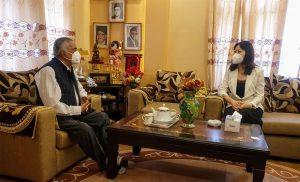 Chinese envoy calls on Ram Chandra Paudel