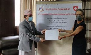 Switzerland hands over 20,000 PCR test kits to Nepal