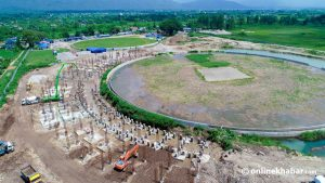 Dhurmus, Suntali's cricket stadium construction underway amid Covid-19 crisis