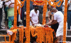 Rastrakavi Madhav Prasad Ghimire cremated with state honours