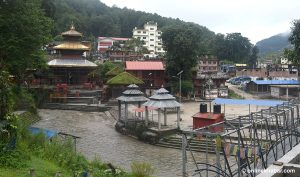This Kushe Aunshi, Gokarneshwor Temple looks deserted