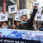 Demonstration outside Chinese Embassy in Kathmandu 'against encroachment'