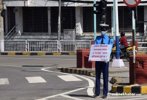 With several traffic police isolated, dummies run the show on Kathmandu streets