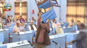 Nepali Congress lawmakers vandalise Province 5 Assembly furniture
