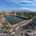 Kathmandu city starts removing algae from Ranipokhari