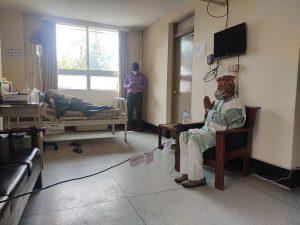 Ram Baran Yadav visits Dr Govinda KC to express solidarity