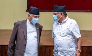 Oli, Dahal 'not talking' since cabinet reshuffle
