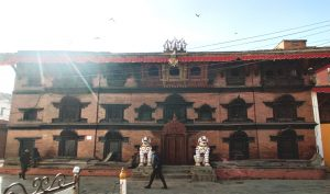 Stakeholders concerned as one man, unaware and unauthorised, 'mispaints' Kathmandu's Kumari Ghar