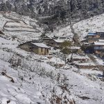 Snowfall affects life in western Nepal