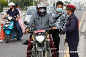 Odd-even rationing on Kathmandu vehicles is virtually defunct, but cops are booking 'innocent bikers'