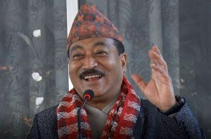 Nepal leader hopes to make world record as first sitting minister to sing on stage