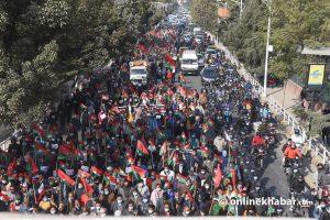 Political demonstrations turn Kathmandu traffic management into shambles