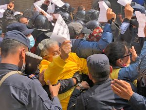 Police detain activists protesting Oli's 'influence on court' in Kathmandu