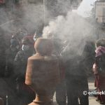 A dying tradition of Kathmandu in which locals smash pots here and there