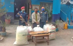 Bara police, marijuana smugglers exchange fire