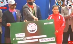 Nepali athlete wins gold medal in Dhaka Marathon