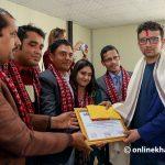Onlinekhabar journo Bijaya Subedi honoured