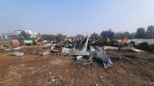 Kathmandu city demolishes huts to empty Khulamanch
