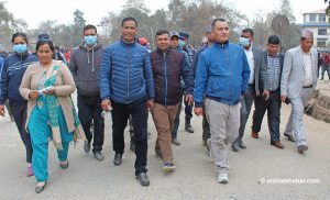 Karnali CM joins strike enforcers in Surkhet