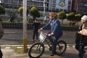 Kathmandu mayor had a plan to make it a cycle city, but he hasn't done anything in 4 years