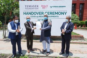 Gorkha Brewery hands over medical support worth Rs 200 mln to Nepal govt