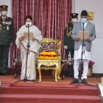 Oli takes oath as PM, inducts old ministers into the cabinet