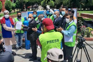 Govt receives 560 oxygen cylinders sent by Nepalis in the Gulf via NRNA