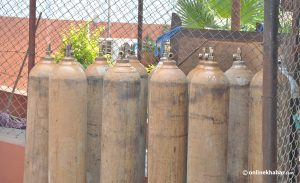 Kathmandu police confiscate 6,484 oxygen cylinders used for non-medical purpose