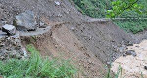 Landslides obstruct major road networks in Lumbini