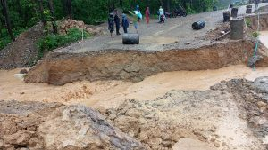 Flood obstructs East-West Highway in Rupandehi