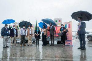 Covid-19 Nepal: Italy sends medical supplies including ventilators
