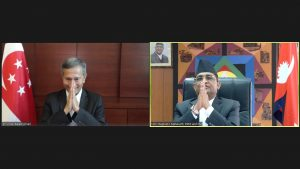 Nepal, Singapore foreign affairs ministers hold a virtual meeting