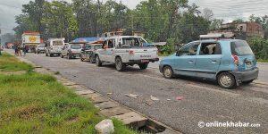 Landslides block Narayangadh-Muglin road, East-West Highway
