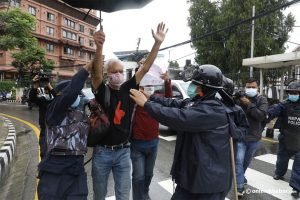 Kathmandu police detain civil society activists for protesting outside Singhadarbar