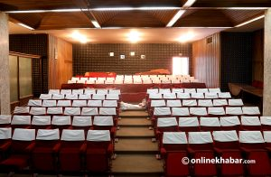 A different cinema hall inside Nepal royal palace that will be open to all soon