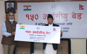 Covid-19 Nepal: India hands over 150 ICU beds