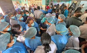 Agitating health workers at Bir Hospital clash with police