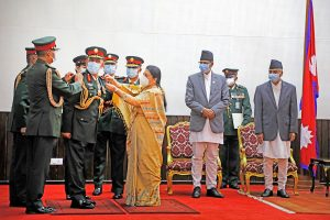 New Nepal Army chief Prabhu Ram Sharma conferred insignia