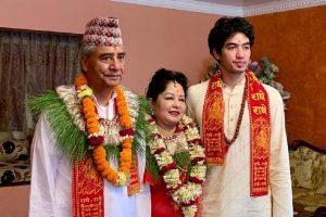 Sher Bahadur Deuba's son is a Nepali Congress member officially now