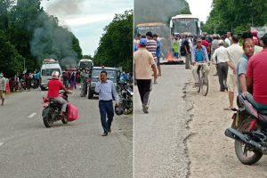 Kanchanpur town tense as ambulance hits and kills cyclist