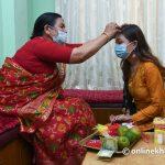 Dashain Tika/Vijaya Dashami, the main day of Badadashain, being celebrated across Nepal