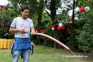 Jivan Shrestha: Meet this artist whose bread and butter is hidden in balloons